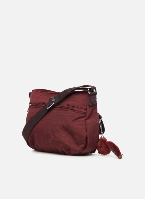 Handtaschen kipling Syro weinrot ansicht von rechts