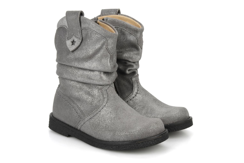 Bottines et boots Pom d Api Hike texas botte Argent vue 3/4
