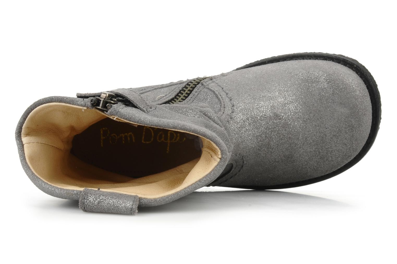 Bottines et boots Pom d Api Hike texas botte Argent vue gauche