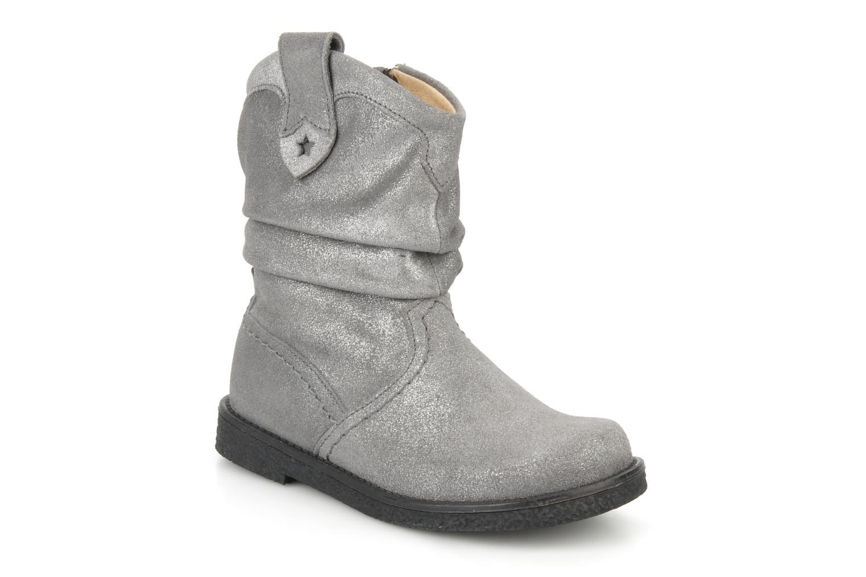 Bottines et boots Pom d Api Hike texas botte Argent vue détail/paire