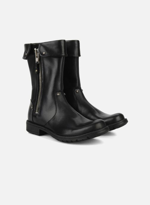 Boots & wellies Pom d Api Lina zip reverse Black 3/4 view