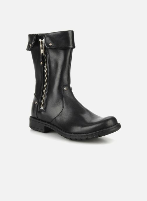 Boots & wellies Pom d Api Lina zip reverse Black detailed view/ Pair view