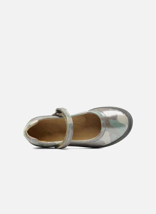Ballet pumps Pom d Api School baby Green view from the left