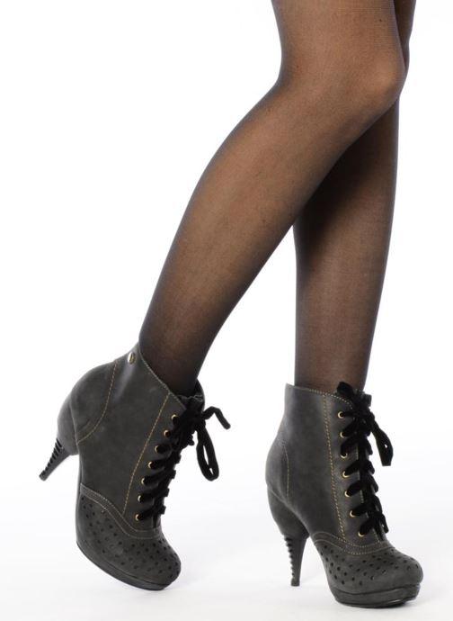 Stiefeletten & Boots Feud Beckon schwarz ansicht von unten / tasche getragen