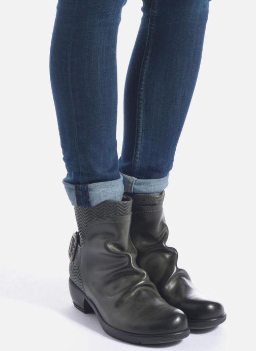 Bottines et boots Fly London Mel Noir vue bas / vue portée sac