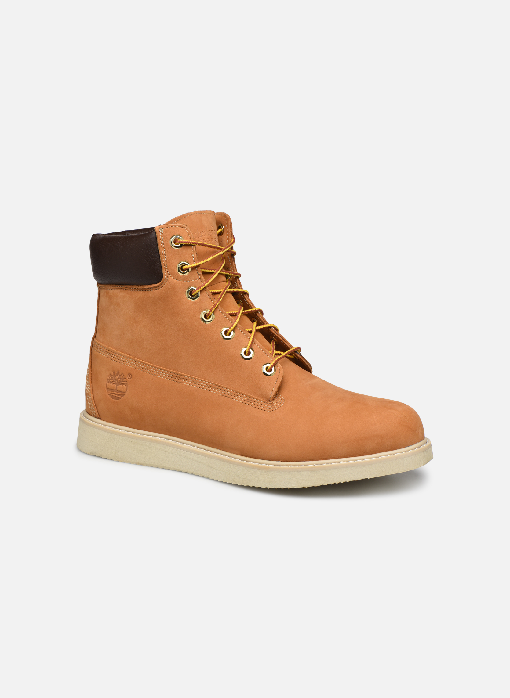 Bottines et boots Timberland 6 in wedge Marron vue détail/paire