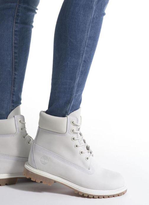 Botines  Timberland 6 in premium boot w Gris vista de abajo