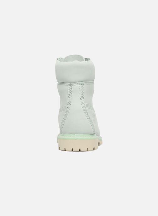 Botines  Timberland 6 in premium boot w Verde vista lateral derecha