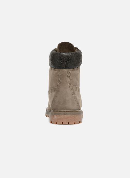 Botines  Timberland 6 in premium boot w Marrón vista lateral derecha