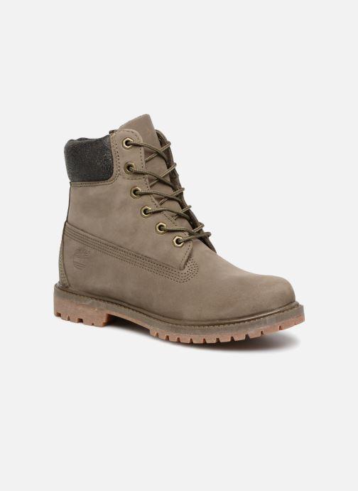 Botines  Timberland 6 in premium boot w Verde vista de detalle / par