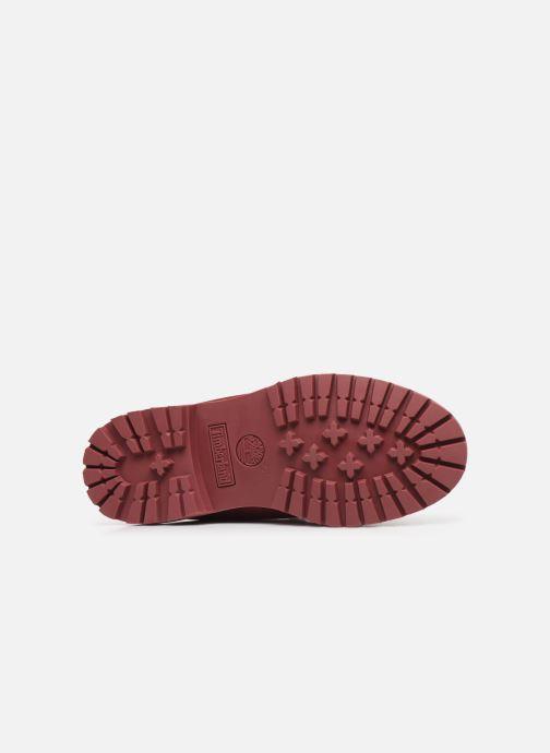 Bottines et boots Timberland 6 in premium boot w Bordeaux vue haut