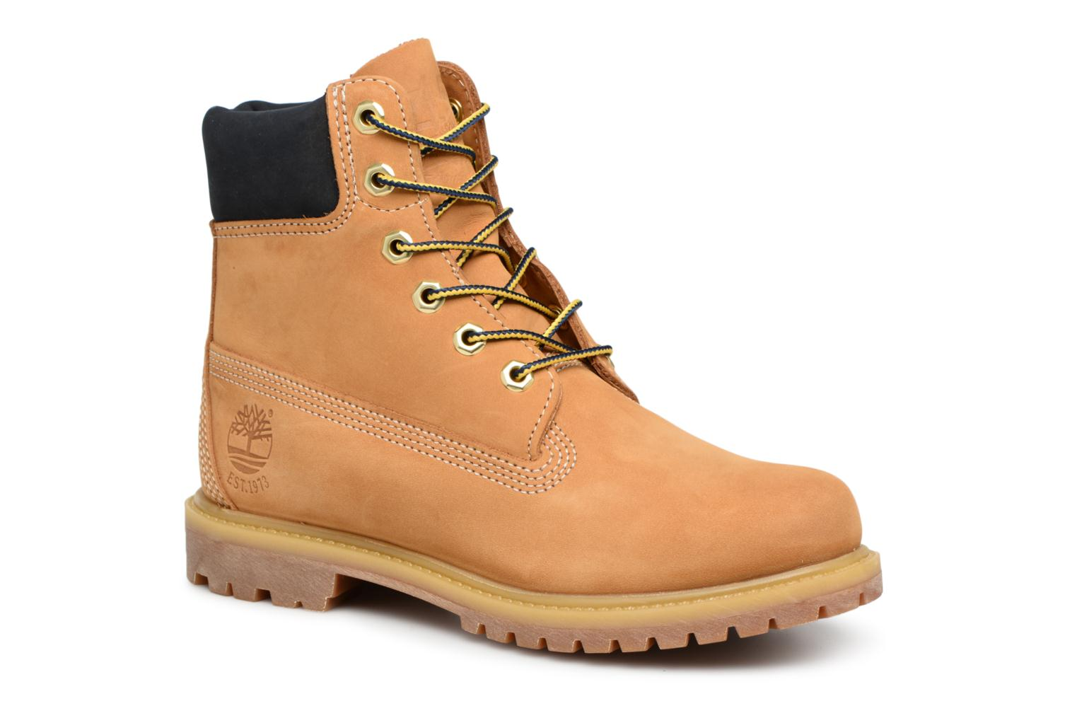 Bottines et boots Timberland 6 in premium boot w Jaune vue détail/paire