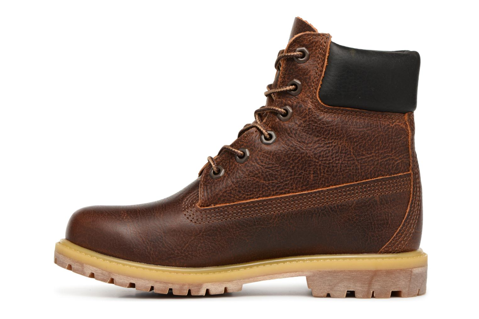 Bottines et boots Timberland 6 in premium boot w Marron vue face