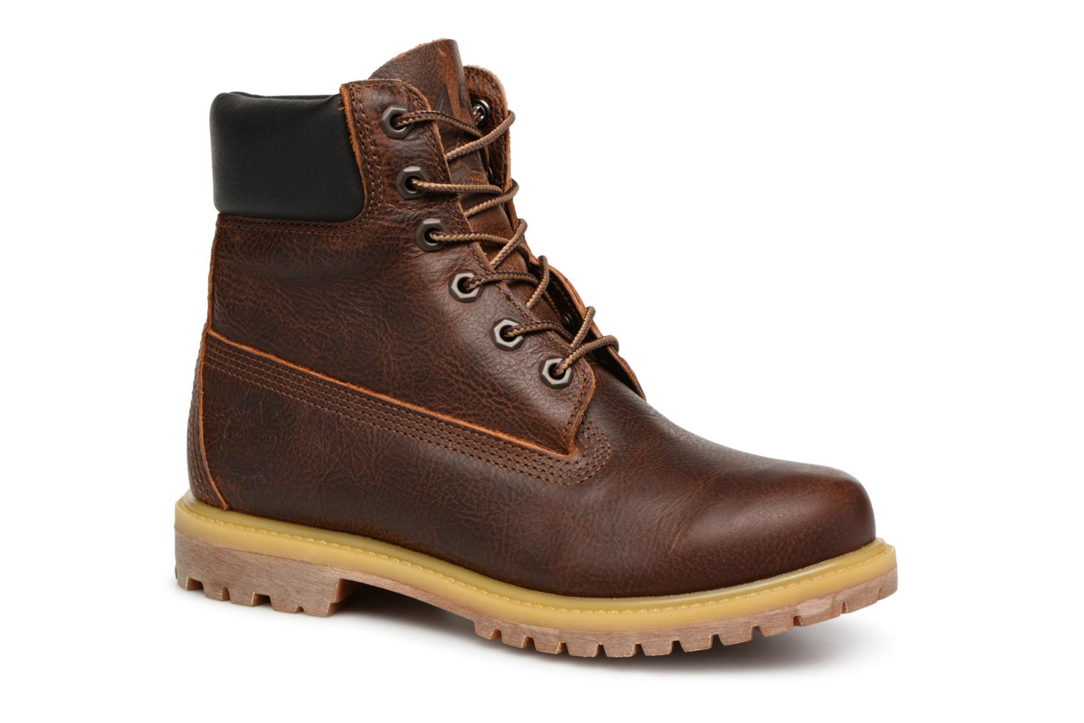 Bottines et boots Timberland 6 in premium boot w Marron vue détail/paire
