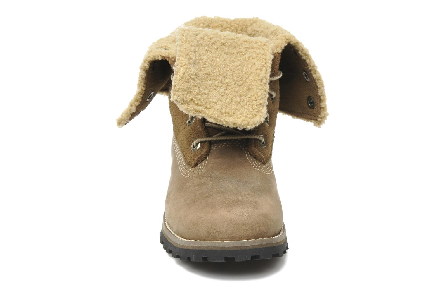 Bottines et boots Timberland 6 In Waterproof Shearling Boot Beige vue portées chaussures
