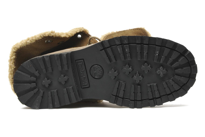 Bottines et boots Timberland 6 In Waterproof Shearling Boot Beige vue haut