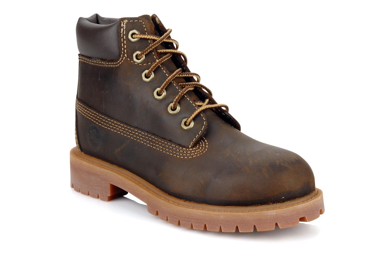 Bottines et boots Timberland 6 In Waterproof Boot Marron vue détail/paire