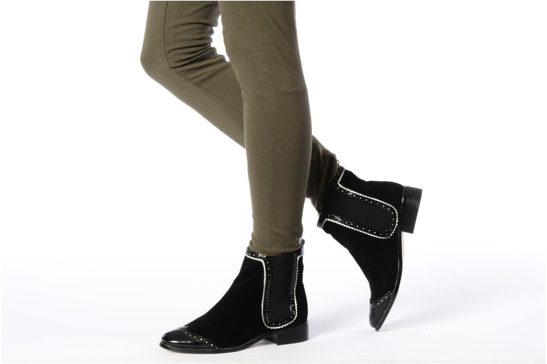 Bottines et boots C.Petula Thelma Noir vue bas / vue portée sac