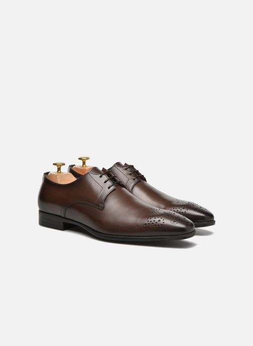 Lace-up shoes Santoni Marlone 11020 Brown 3/4 view