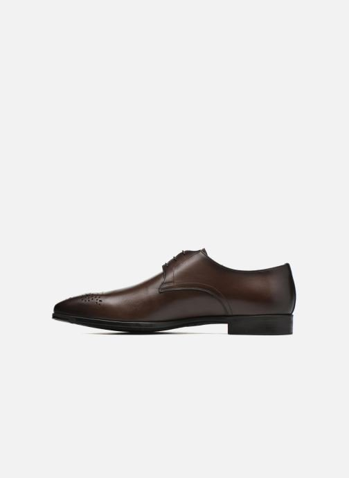 Lace-up shoes Santoni Marlone 11020 Brown front view