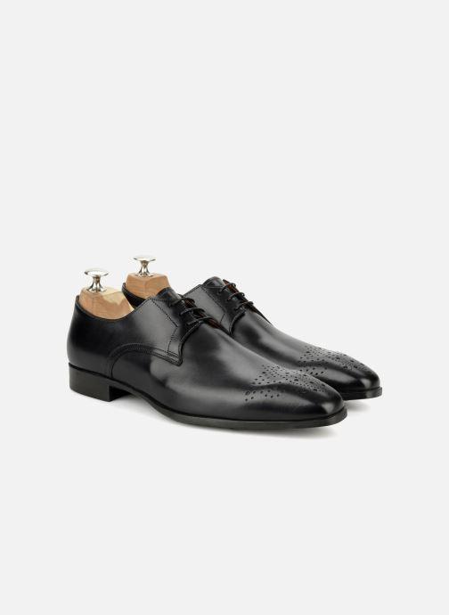 Chaussures à lacets Santoni Marlone 11020 Noir vue 3/4