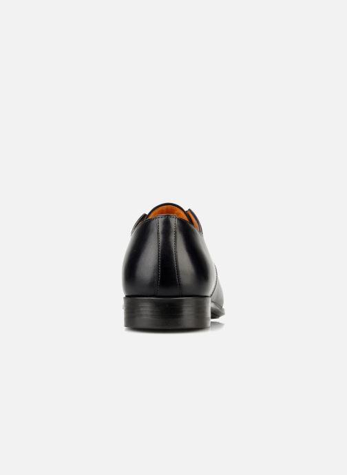 Chaussures à lacets Santoni Marlone 11020 Noir vue droite