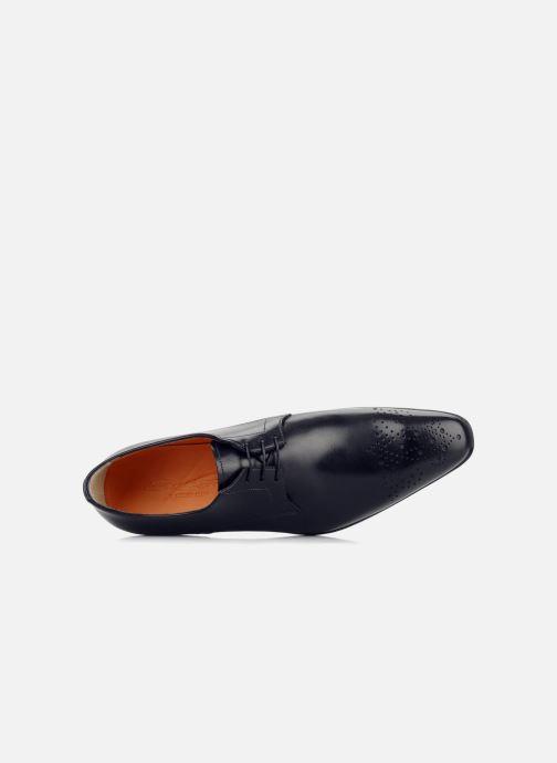 Chaussures à lacets Santoni Marlone 11020 Noir vue gauche