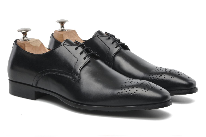 Zapatos con cordones Santoni Marlone 11020 Negro vista 3/4