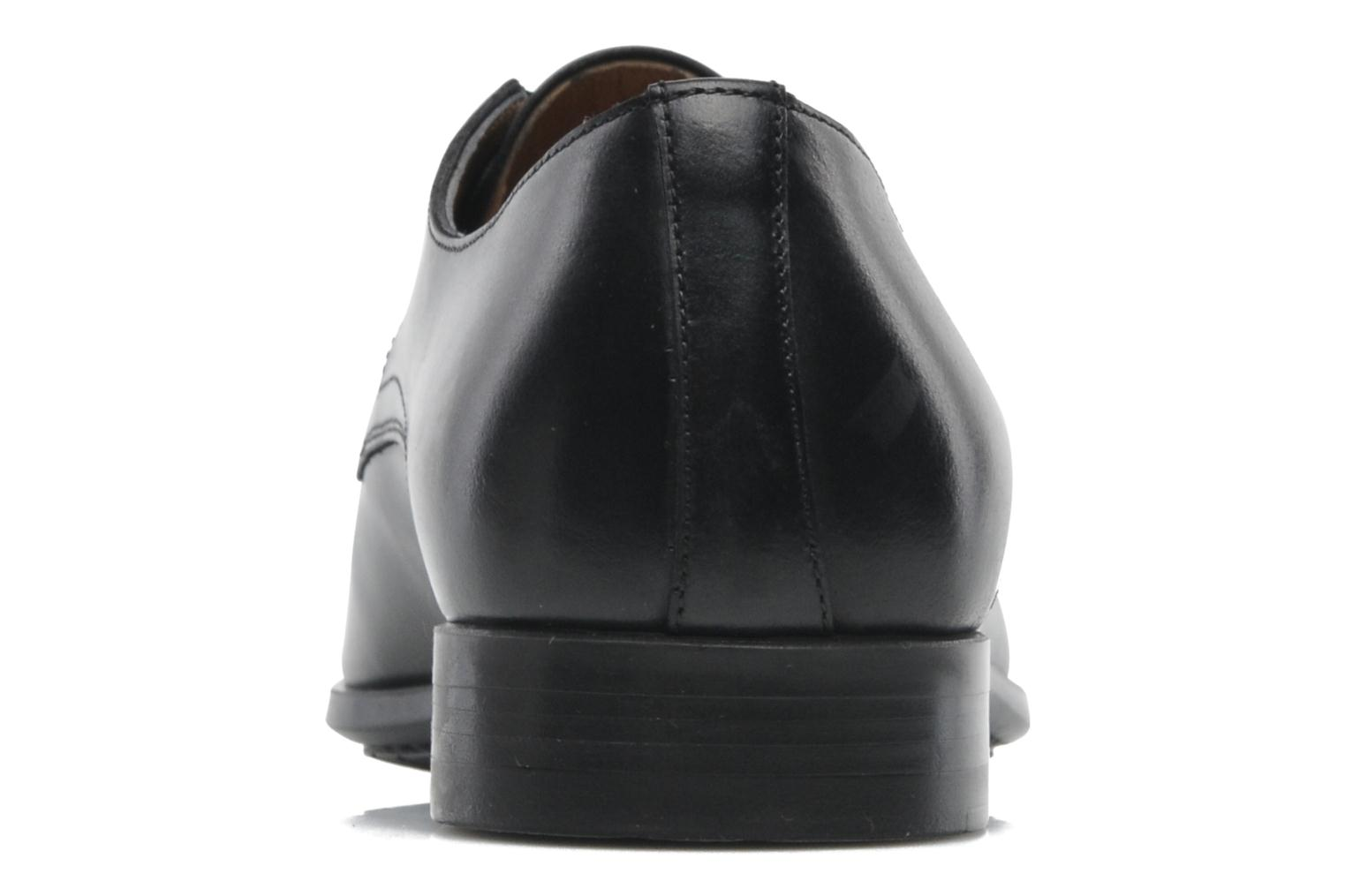 Lace-up shoes Santoni Marlone 11020 Black view from the right
