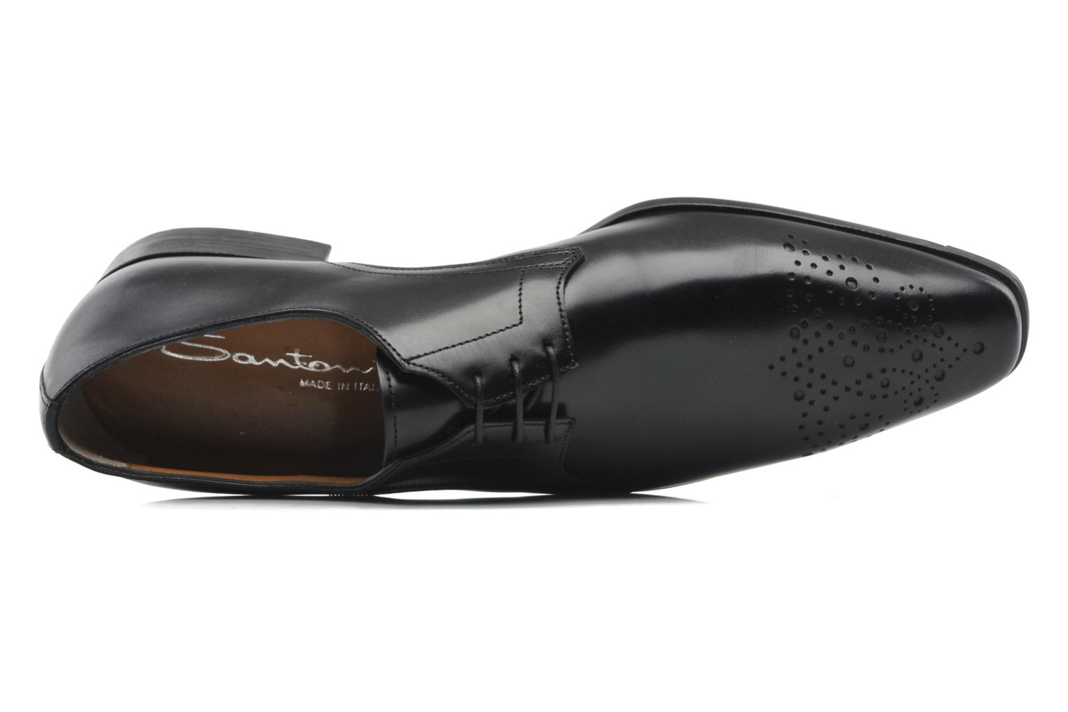 Lace-up shoes Santoni Marlone 11020 Black view from the left