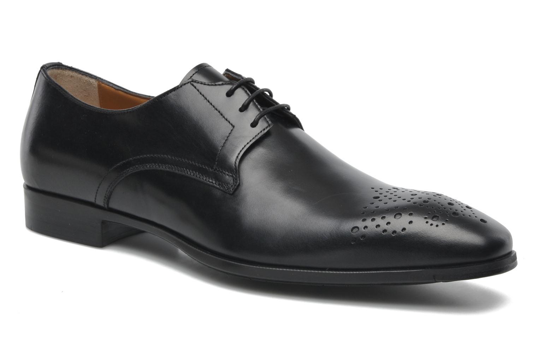 Zapatos con cordones Santoni Marlone 11020 Negro vista de detalle / par