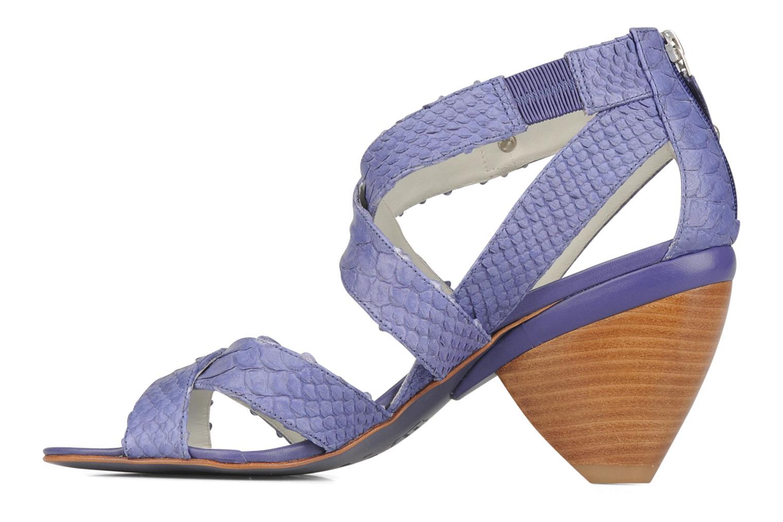 Sandales et nu-pieds Miezko Lina Violet vue face