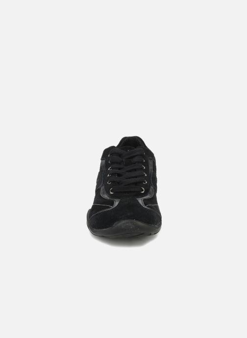 Sneaker Geox D ARROW D1320F schwarz schuhe getragen