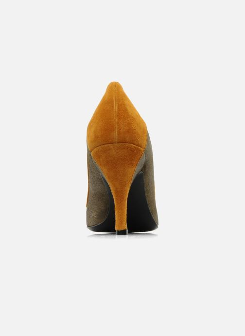 Zapatos de tacón Amelie Pichard Isabella r Marrón vista lateral derecha
