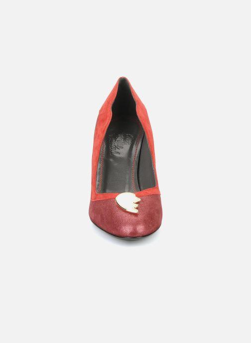 Escarpins Amelie Pichard Isabella r Rouge vue portées chaussures
