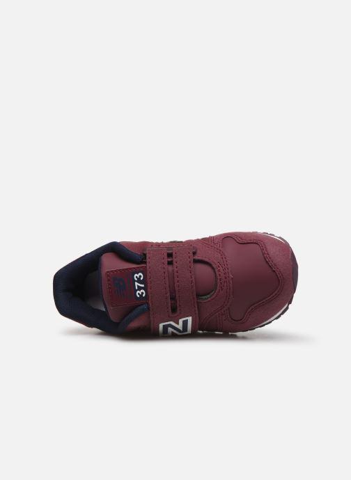 Sneaker New Balance Kv373 weinrot ansicht von links