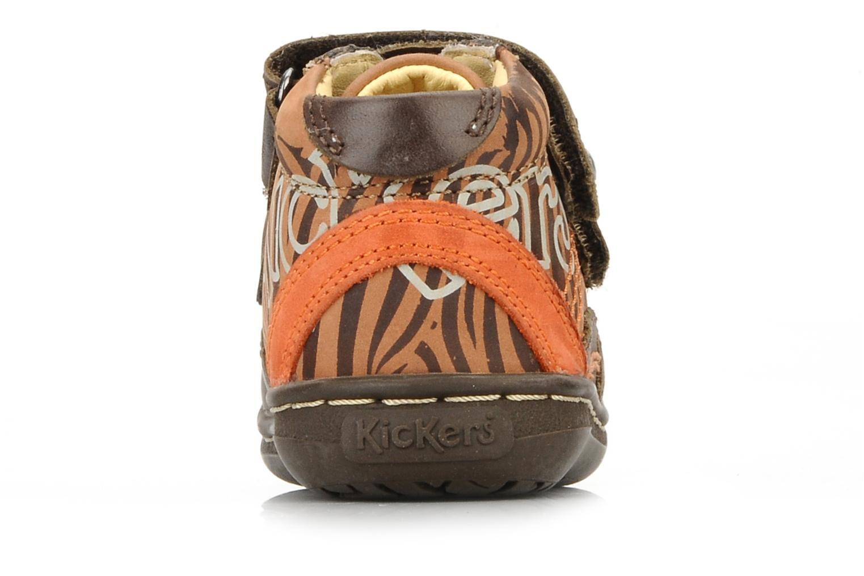 Chaussures à scratch Kickers Maellig Marron vue droite