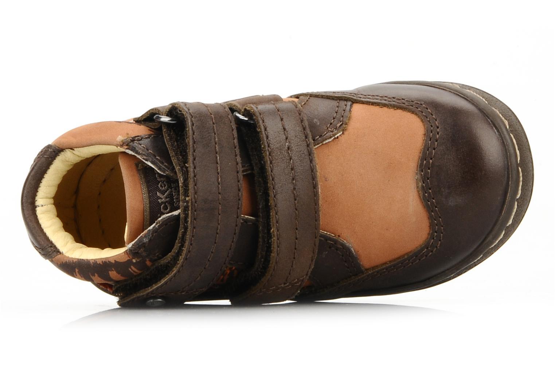 Chaussures à scratch Kickers Maellig Marron vue gauche