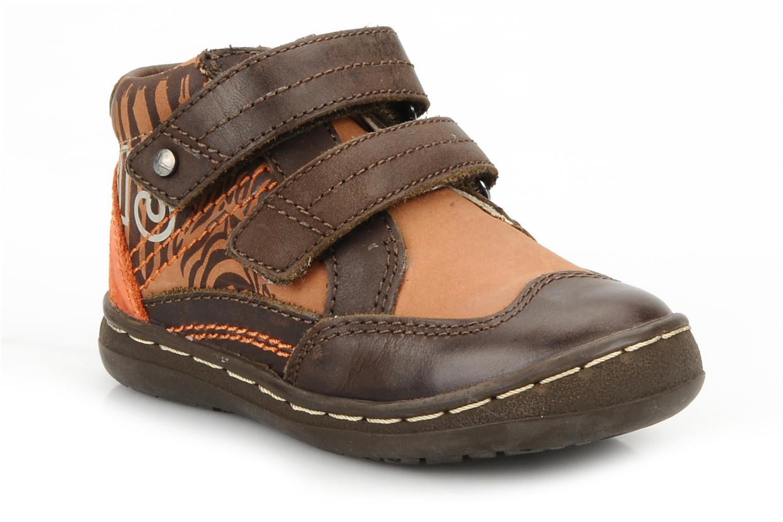 Chaussures à scratch Kickers Maellig Marron vue détail/paire