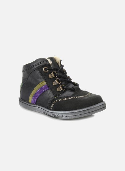Ankelstøvler Kickers Tao Sort detaljeret billede af skoene