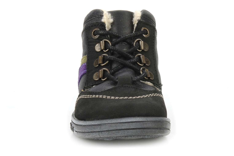 Bottines et boots Kickers Tao Noir vue portées chaussures