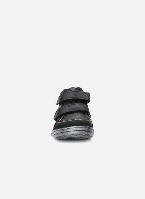 Chaussures à scratch Kickers Taylor Noir vue portées chaussures