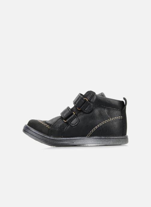Chaussures à scratch Kickers Taylor Noir vue face
