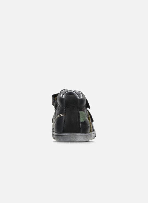 Chaussures à scratch Kickers Taylor Noir vue droite