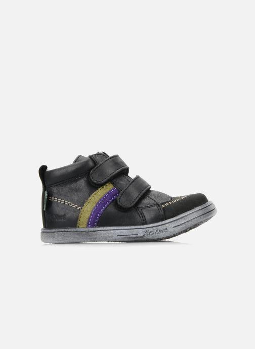 Chaussures à scratch Kickers Taylor Noir vue derrière