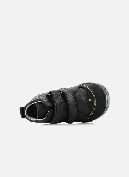 Chaussures à scratch Kickers Taylor Noir vue gauche