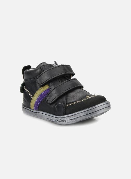 Chaussures à scratch Kickers Taylor Noir vue détail/paire