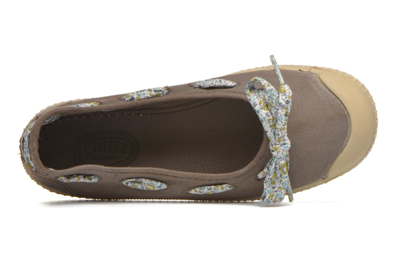 Ballerines chipie bis Rumba flolace Marron vue gauche