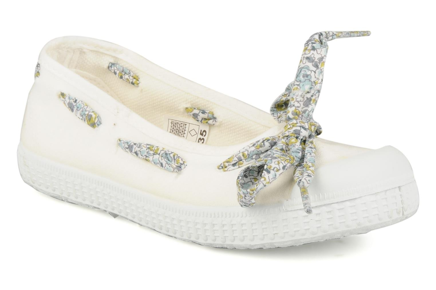Ballet pumps chipie bis Rumba flolace White detailed view/ Pair view