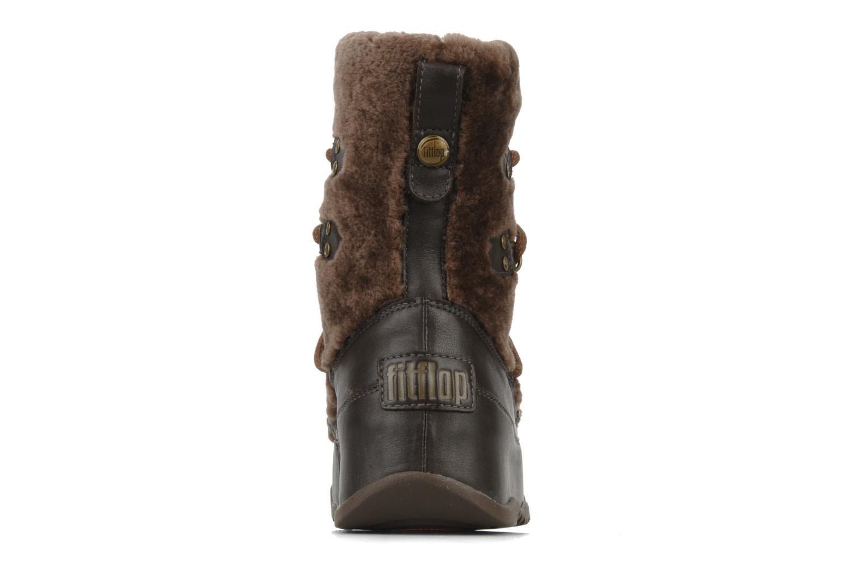 Bottines et boots FitFlop Super blizz Marron vue droite